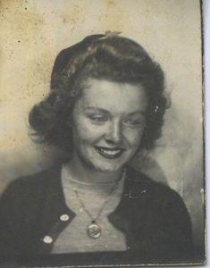 Vintage photo booth portrait.