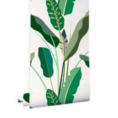 Carta da parati Wood Copacabana by All the fruits Wall Painting Decor, Wall Decor, Office Deco, Green Wallpaper, Bathroom Wallpaper, Home And Deco, Tropical Leaves, Decoration, Paper Design