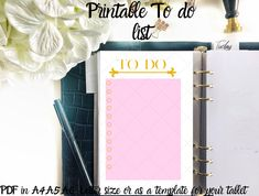 To do list gold and pink printable Letter Size or digital Template for Ipad/Tablet, girl boss planner, life plan, planner insert Health Planner, Life Planner, Happy Planner, Agenda Organization, Wheel Of Life, Planner Inserts, Ipad Tablet, Letter Size, Girl Boss