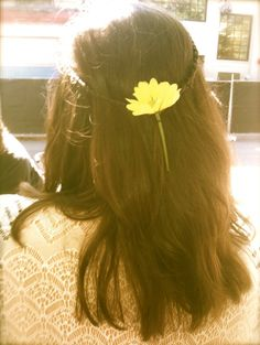 /flower in her hair