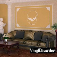 Skull Wall Decal - Vinyl Decal - Car Decal - CF054