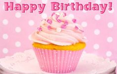 Happy Birthday cupcakes birthday happy birthday birthday candles birthday cake birthday greeting birthday wishes for you animated birthday birthday gif Happy Birthday Dear Friend, Happy Birthday Messages, Birthday Greetings, Birthday Wishes, Pink Birthday, Cake Birthday, Birthday Candles, Glitter Cupcakes, Fancy Cupcakes