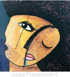 Pintura de João timane. Rosto...  Fb: JoaoTimaneArt