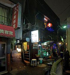 夜散歩のススメ「平和小路、隙間路地と建物 」東京都品川区