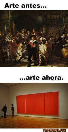 Arte de antes y arte de ahora