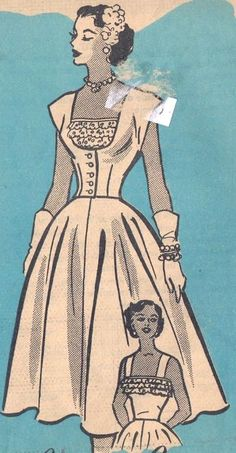anne adams patterns, womens | Ann Adams 4662 vintage dress pattern