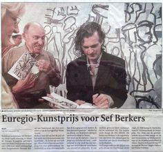 'Euregio Art Price for Sef Berkers'. An article in De Limburger about the award ceremony and the exhibition in the Artcollege, Weert, Holland. Art Price, Holland, Awards, Artist, Movie Posters, Fictional Characters, Exhibitions, The Nederlands, Artists