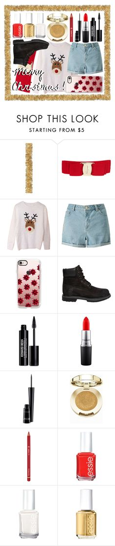 """Merry Christmas!!!!! rtd"" by lexi-loves-fashion ❤ liked on Polyvore featuring Salvatore Ferragamo, Miss Selfridge, Casetify, Timberland, Edward Bess, MAC Cosmetics, Milani, Dr.Hauschka and Essie"