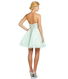 Glamour by Terani Couture Cascading Crystal Party Dress #Dillards