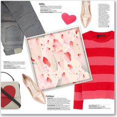 How To Wear Pink & Red Art Inspired Outfit Outfit Idea 2017 - Fashion Trends Ready To Wear For Plus Size, Curvy Women Over 20, 30, 40, 50