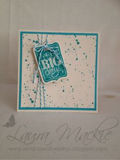 gorgeous grunge and Chalk Talk. Colors are Naturals Ivory card stock and Bermuda Bay ink