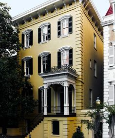 Built in 1872, the house faces a Savannah square. Robert Duffy's Savannah escape.