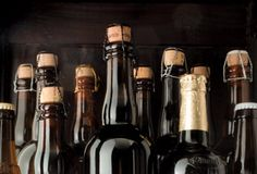 Whether you're ready for big-time construction or just have a spare cabinet, here's how to make the most of a burgeoning beer cellar. Beer Cellar, Beer Bar, Beverages, Drinks, Home Brewing, Wine Rack, House Ideas, Room, Inspiration