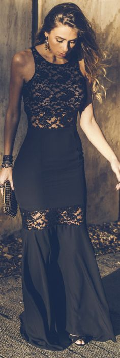 Lacy evening gown