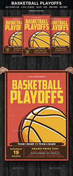 Basketball Game Sports Flyer Fully, Models and Ready - basketball flyer example