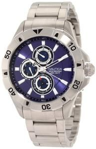 Nautica Men's N17546G NST 06 Multifunction Blue Dial Steel Bracelet Watch