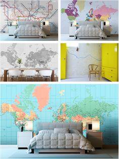 Custom map wallpapers