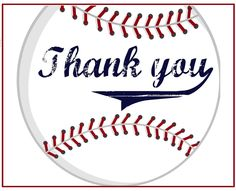 Team Thank You Card for Baseball Coach INSTANT Download by khudd ...
