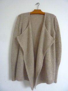 tuto du cardigan  300 g d'alpaga et 3,5 cônes de voilette ou tout autre laine se tricotant avec des aig. 5. Aiguilles : 4 - 4,5 - 5