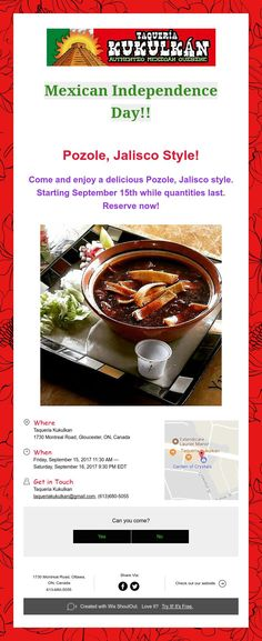 Come and enjoy a delicious Pozole, Jalisco style. Mexican Independence Day, Pozole, Events, Style, Happenings, Stylus