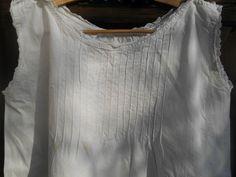 Victorian White Rustic Dress Handmade Unused by SophieLadyDeParis
