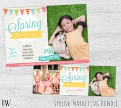 Spring Mini Session Template, Photoshop Template, Facebook Timeline Cover, Photographer, Photography Marketing Template - 06-003