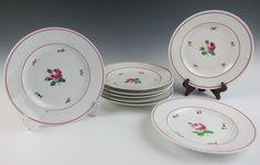 Early Antique Pre Augarten Wien Royal Vienna Porcelain Plates Rose Austria Plate   eBay