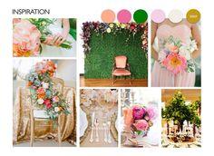 Love grass & floral wall + colour scheme