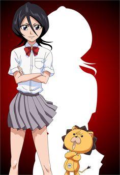 Rukia Kuchiki (朽木 ルキア, Kuchiki Rukia) is the lieutenant of the Division under Captain Jūshirō Ukitake. Rukia is the adoptive sister of Byakuya Kuchiki and a friend of Ichigo Kurosaki. Kon Bleach, Rukia Bleach, Ichigo X Rukia, Bleach Manga, Shinigami, Dragon Ball Gt, One Punch Man, Death Note, Bleach Characters