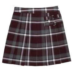 Girls 4-20 & Plus Size French Toast School Uniform Pleated Plaid Skort, Size: 18 Plus, Red Other