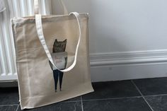 Tote bag Taco Kitty by nicolaclare7 on Etsy, £12.00
