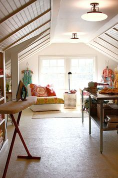 Sewing Studio Inspiration, craft studio, sewing studio