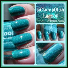 piCture pOlish Lagoon by Fashion Polish - Swatches and Review (Pointless Cafe)