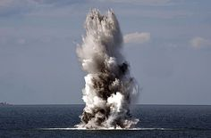 A mine gets detonated during a #USNavy mine sweeping exercise in the Baltic Sea.