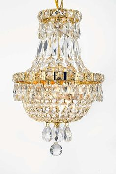 Empire All Crystal Chandelier by Gallery Chandeliers on @HauteLook