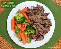 Emily Bites - Weight Watchers Friendly Recipes: Slow Cooker Balsamic Beef