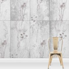 114d66a5909830 Carrigan Concrete 10m L x 52cm W Floral and Botanical Roll Wallpaper  Wrought Studio Einzigartiges Hintergrundbild