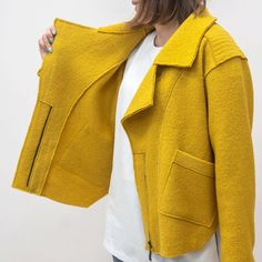 Diy Clothing, Clothing Patterns, Corporate Shirts, Concept Clothing, Blouse Styles, Jacket Style, Casual Suit, Blouses For Women, Winter Outfits