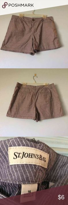 Grey and white striped shorts These shorts run small really fit a size 14. Super cute and comfortable. Shorts