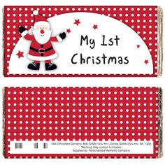Personalised Christmas Chocolate Bar - Spotty Santa  from Personalised Gifts Shop - ONLY £5.99