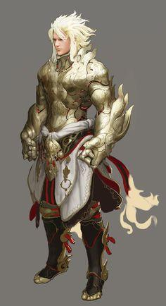 Striker from Black Desert Fantasy Weapons, Fantasy Armor, Medieval Fantasy, Anime Fantasy, Fantasy Characters, Dnd Characters, Black Characters, Character Concept, Character Art