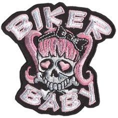 Image detail for -Pink Biker Baby Patch Embroidered biker motorcycle patches