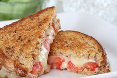 Sandwich Recipe: Gourmet Tomato & Mozzarella Garlic Grilled Cheese