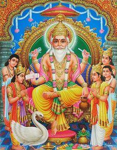 Vishwakarma - The Divine Architect (Reprint on Glazed Paper - Unframed) Shiva Parvati Images, Hanuman Images, Vishwakarma Puja, Indiana, Lord Murugan Wallpapers, Shiva Shankar, Ganesh Wallpaper, Hindu Dharma, Hindu Deities