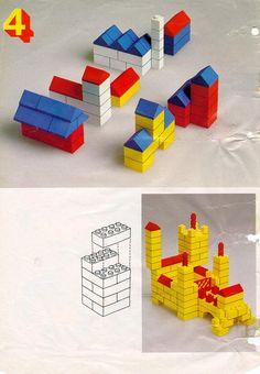 Eenvoudige huizen bouwen van lego
