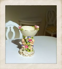 Dolls House Miniature Majolica Table Centrepiece by Veronique Cornish HANDMADE Puppenstuben & -häuser