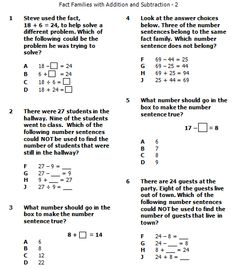 sample word problems more fact families word problems sample word 2