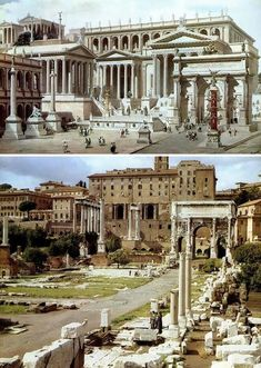 Ancient Rome (before and after) después of the Roman Forum