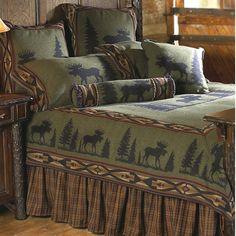 Moose I Log Cabin Bedding