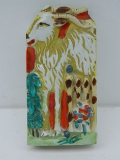 Kitsch  vintage 1940s goat wall pocket by QuirkyCrowsVintage, $15.00